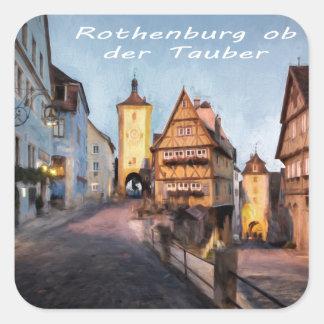 Rothenburg ob der Tauber Square Sticker