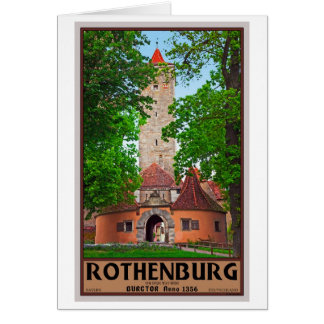 Rothenburg od Tauber - Burgtor Greeting Card