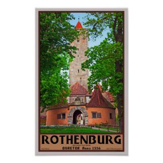 Rothenburg od Tauber - Burgtor Poster