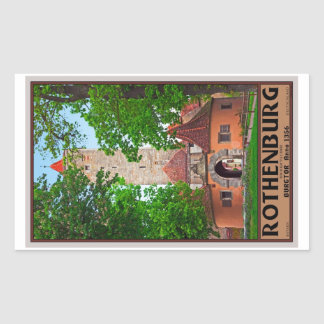 Rothenburg od Tauber - Burgtor Rectangle Sticker