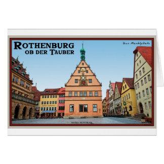 Rothenburg od Tauber - der Marktplatz Greeting Card