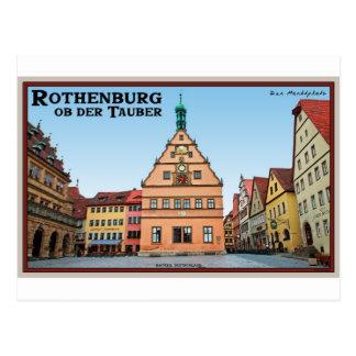 Rothenburg od Tauber - der Marktplatz Postcards