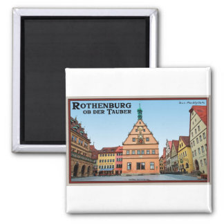 Rothenburg od Tauber - der Marktplatz Square Magnet