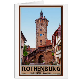 Rothenburg od Tauber - Klingentor Greeting Card