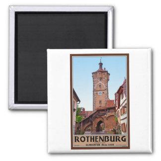 Rothenburg od Tauber - Klingentor Square Magnet