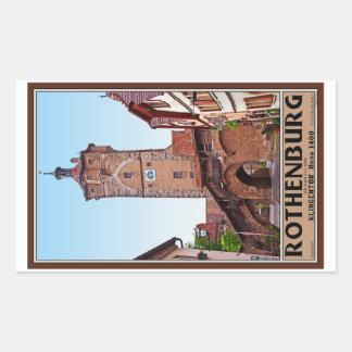 Rothenburg od Tauber - Klingentor Rectangle Stickers