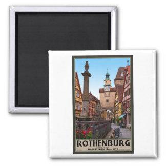 Rothenburg od Tauber - Markusturm Square Magnet