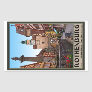Rothenburg od Tauber - Markusturm Rectangular Sticker