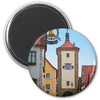 Rothenburg od Tauber - Sieberstor 6 Cm Round Magnet