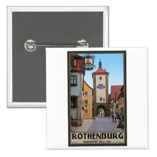Rothenburg od Tauber - Sieberstor 15 Cm Square Badge