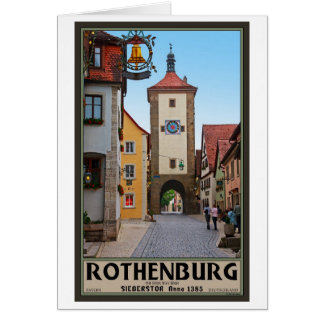 Rothenburg od Tauber - Sieberstor Greeting Card