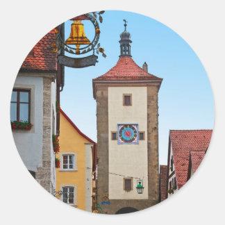 Rothenburg od Tauber - Sieberstor Round Stickers
