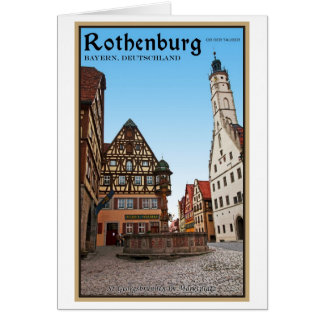 Rothenburg od Tauber - St Georgbrunnen Greeting Card
