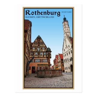 Rothenburg od Tauber - St Georgbrunnen Postcard