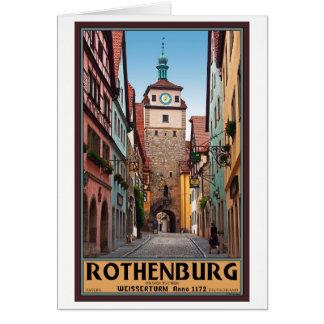 Rothenburg od Tauber - Weisserturm Greeting Card