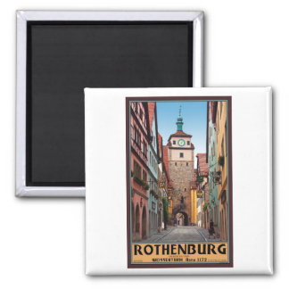 Rothenburg od Tauber - Weisserturm Square Magnet