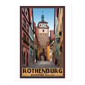 Rothenburg od Tauber - Weisserturm Postcard
