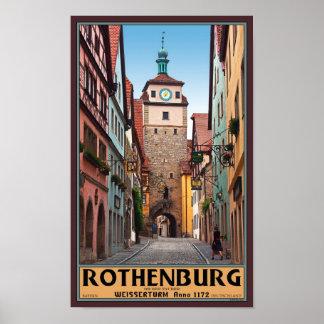 Rothenburg od Tauber - Weisserturm Poster