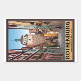 Rothenburg od Tauber - Weisserturm Rectangle Sticker