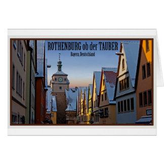 Rothenburg od Tauber - Weisserturm Winter Greeting Card