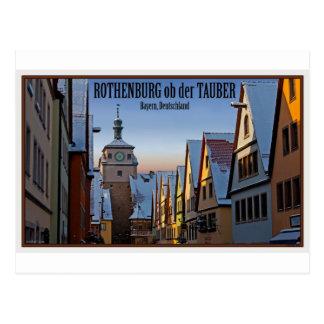 Rothenburg od Tauber - Weisserturm Winter Postcard
