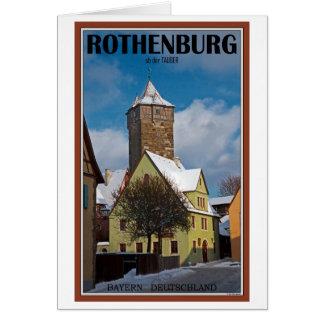 Rothenburg od Tauber - Winter Scene Greeting Card
