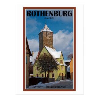 Rothenburg od Tauber - Winter Scene Postcard