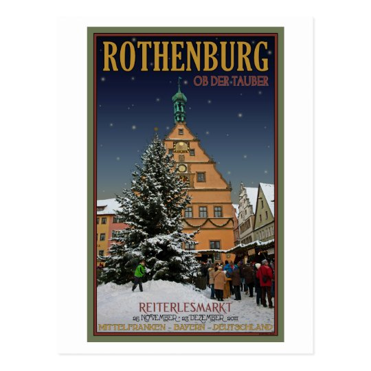 Rothenburg  Reiterlesmarkt Postcard