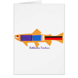 Rothko Trout Greeting Card