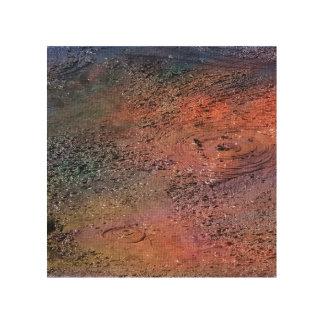 """Rotorua New Zealand"" - Thermal Mud pools #1 Wood Canvas"