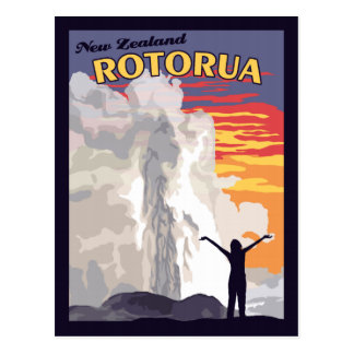 Rotorua New Zealand - Vintage Travel Postcard