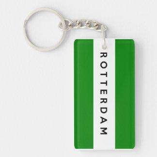 rotterdam city flag netherlands symbol rectangular acrylic key chain
