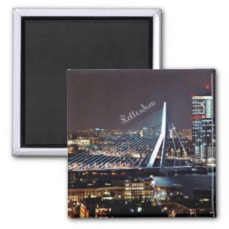 Rotterdam Cityscape Square Magnet