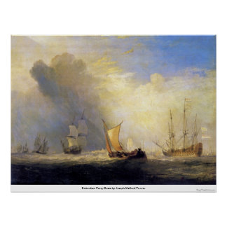 Rotterdam Ferry Boats by Joseph Mallord Turner Print
