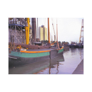 Rotterdam, historic ships, Dutch Sailing barge Canvas Print