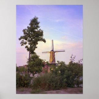 Rotterdam, Schiedam windmill Poster