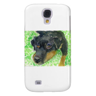 Rottie Looking at You ready to play Samsung Galaxy S4 Cases