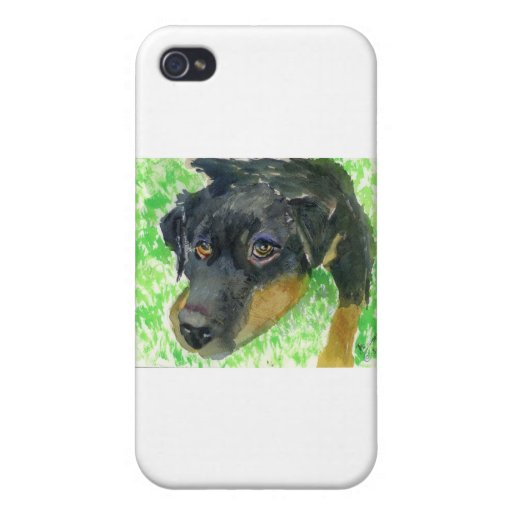 Rottie Looking at You... ready to play? iPhone 4 Case