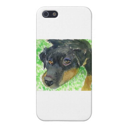 Rottie Looking at You... ready to play? iPhone 5 Cover