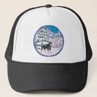 rottie winter trucker hat
