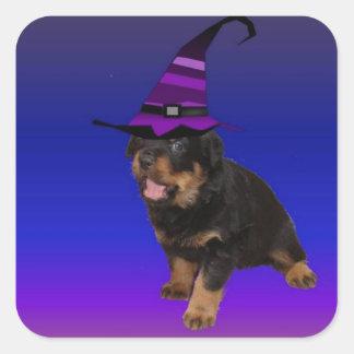 Rottie Witch Square Sticker