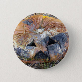 Rotting Pumpkin 6 Cm Round Badge