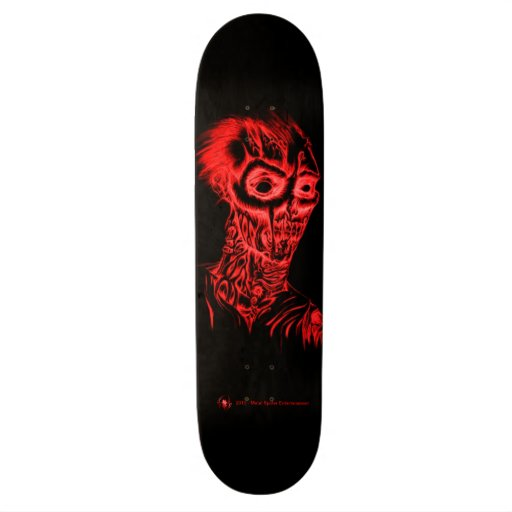 Rotting Zombie Blood Red Skateboard Deck