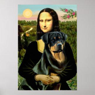 Rottweiler (#3) - Mona Lisa Print
