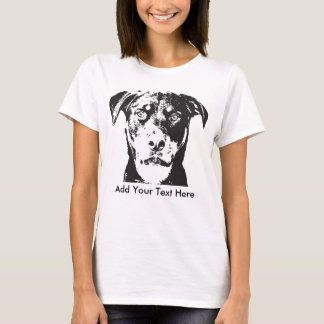 Rottweiler Add Your Text T-Shirt