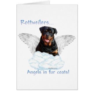 Rottweiler Angel Card