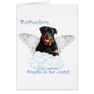 Rottweiler Angel Greeting Card