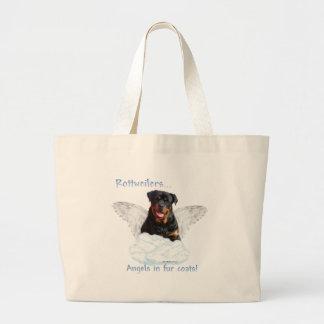 Rottweiler Angel Large Tote Bag