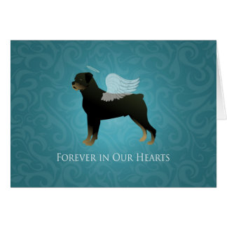 Rottweiler Angel - Pet Memorial Design Card