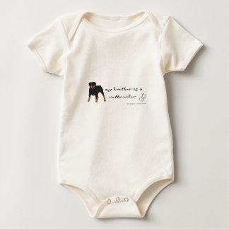 rottweiler baby bodysuit
